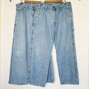 2 Levi's Carpenter Jeans Light Wash Denim Pants